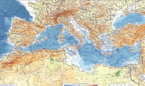 Средиземное море обладает крайне выгодным географическим положением