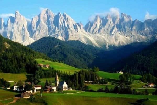 Валле-д'Аоста Это высокогорный регион.