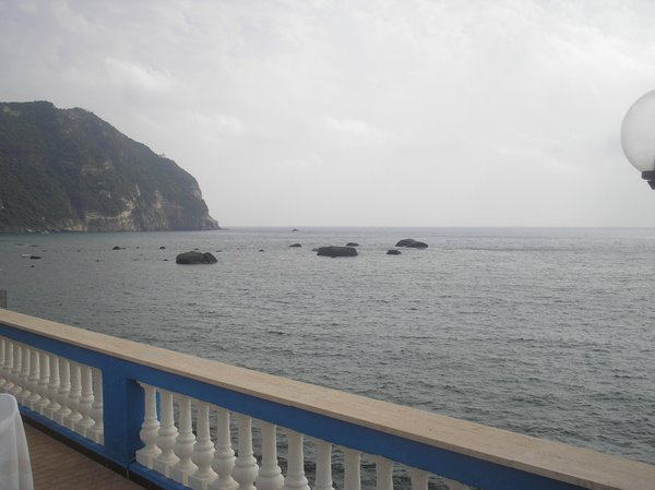 Вид с террасы отеля