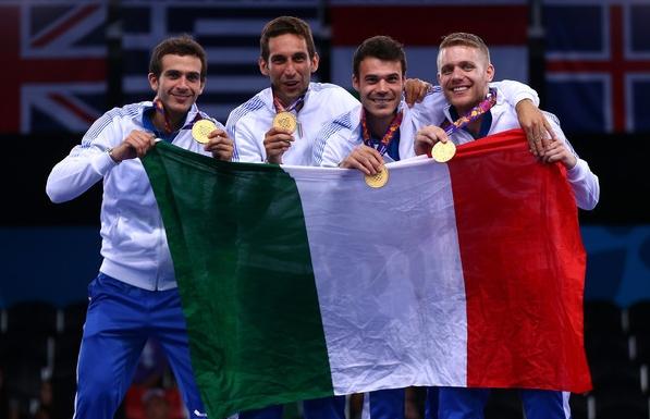 В составе «золотой» команды саблистов приняли участие два фехтовальщика из Неаполя